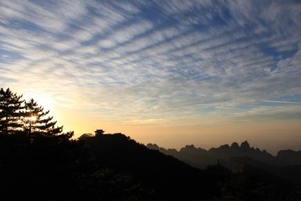 Sunset from Guangming Peak.