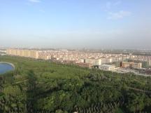 Jiayuguan City's apartment blocks are like a utopic North Korea.