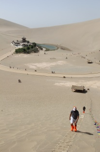 We climbed the dunes above the Crescent Lake.